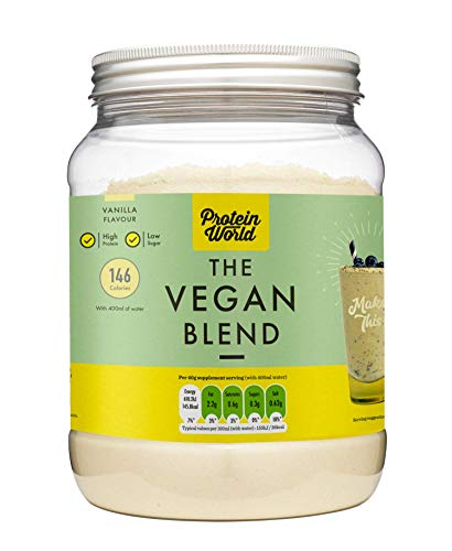 Protein World The Vegan Vanilla Slender Blend – Dairy Free Diet Meal Replacement Protein Shake for Weight Loss, Vanilla…