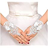 VITORIA'S GIFT The Bride Marriage Dress Wedding Sequin Lace Gloves Wedding Gloves