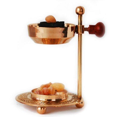 Hecho a mano ajustable latón/oro y quemador de incienso resina incienso incensario/Soporte Para Carbón y velas. Ideal para...