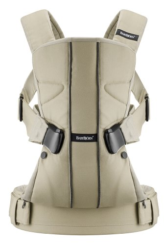BABYBJORN Baby Carrier One - Khaki, Cotton Mix