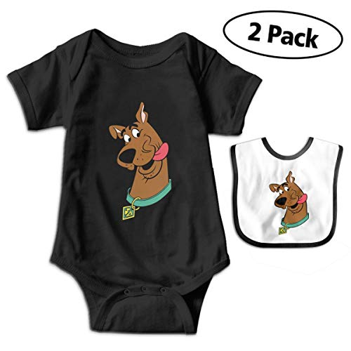 Scooby Doo Face Unisex Newborn Baby Funny Short-Sleeve Cotton Bodysuits Jumpsuit Rompers -