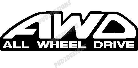 ALL WHEEL DRIVE AWD CAR DECAL STICKER, Light Blue, 16 Inch, Die Cut Vinyl Decal, For Windows, Cars, Trucks, Toolbox, Laptops, Macbook-virtually Any Hard Smooth Surface