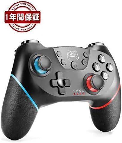 Switch ワイヤレス コントローラー JAMSWALL スイッチ ゲームパッド HD振動 6軸ジャイロセンサー搭載 TURBO連射機能付き 無線Bluetooth接続 Nintendo Switch 全てシステムに対応 日本語取り扱い説明書付き