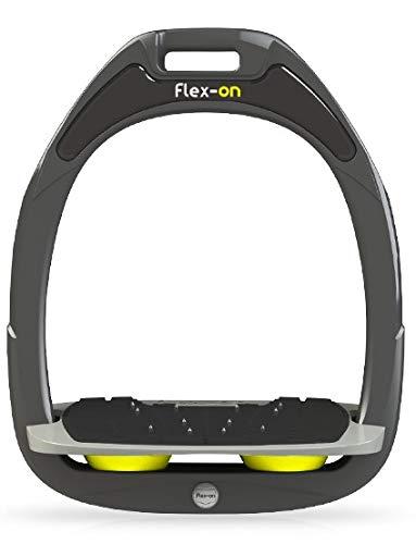 【 限定】フレクソン(Flex-On) 鐙 ガンマセーフオン GAMME SAFE-ON Mixed ultra-grip フレームカラー: ダーク グレー フットベッドカラー: グレー エラストマー: イエロー 06722   B07KMP79NM