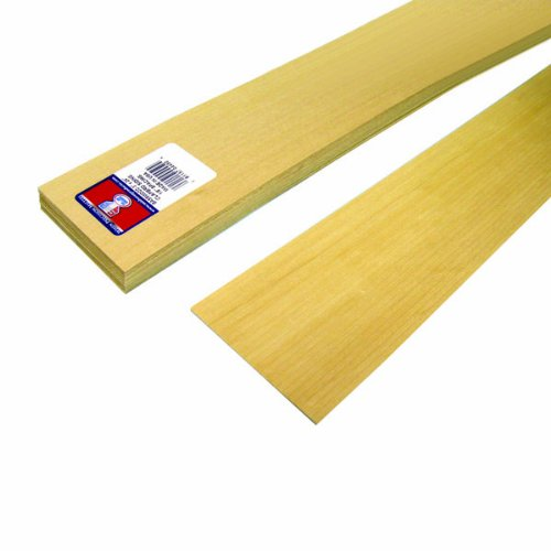 Midwest Products 4450 Scale Lumber Basswood Clapboard Siding, 24x3x0.0625 Inches, 0.125 Spacing