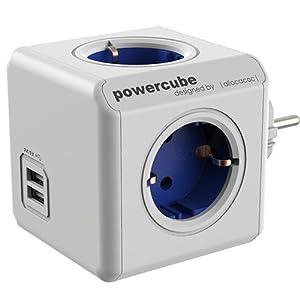 Allocacoc PowerCube - Regleta en forma de cubo con USB