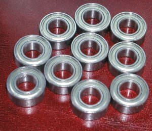 Yoyo Bearing 1/4 x 1/2 (.250x.500) Inch (Set of 10)