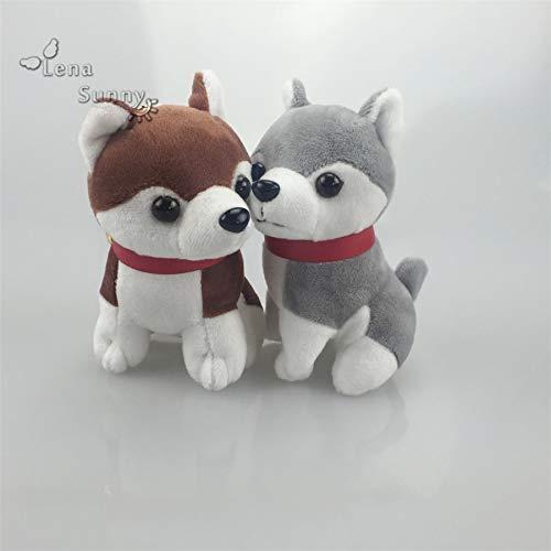 Stuffed Plush Animals | Mini Husky Keychains Plush | Promotional Dog Keychain Gifts | Woman Bag | Car Keychain Gift (30pc|lot)