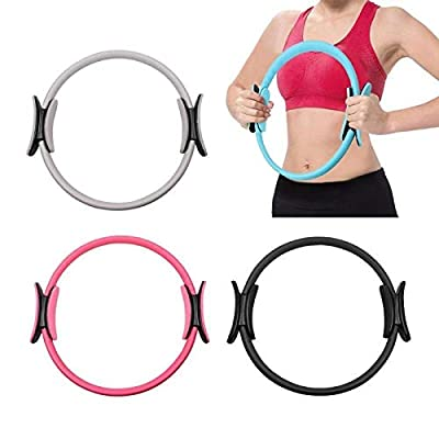 Klsk Dual Grip Yoga Pilates Ring Magic Slimming Body Building Training Circle (Color : Black): Home & Kitchen
