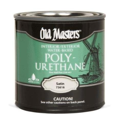 [Old Masters 73616 H2o Interior/exterior Polyurethane, Satin, 1/2 Pint] (Masters H2o Interior Wood Stain)