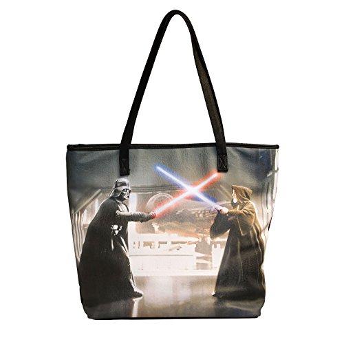 Star Wars - Bolso Shopper Patterned Darth Vader Obi Wan