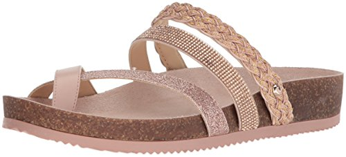 Circus by Sam Edelman Womens Oakley Slide Sandal Blush Gold/Shell Pink EVipG