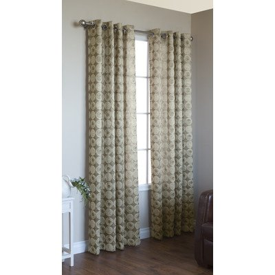Commonwealth Home Fashions Mayan Grommet Curtain Panel in Gold Size: 95