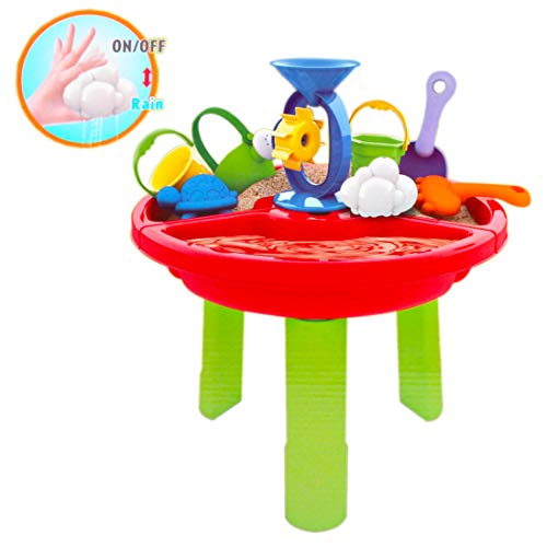 deAO Sand and Water Table with Assorted Accessories - Great Outdoor Fun for Children