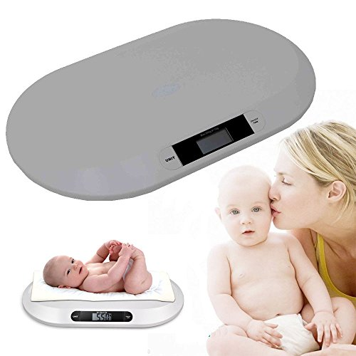 Multi-Function Digital Baby Scale, Electronic Weigh 44lbx0.4oz Comfort Digital Baby Scale Infants Toddlers LCD Show for Babies & Small Children(CA NJ Warehouse) ()