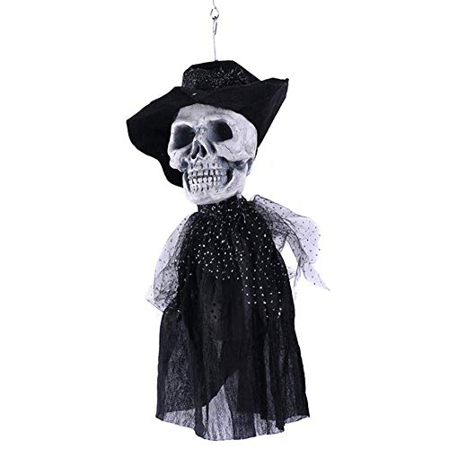 Xiao-mask Halloween Decoration Horror Halloween Groom Bride Hanging Ghost Scary Dolls Halloween Electric Trick Toys Escape Props and Ghosts Toys