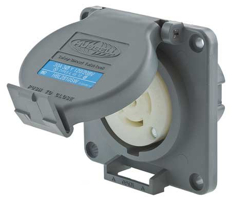 30A Watertight Locking Receptacle 4P 5W 120/208VAC by Hubbell Wiring Device-Kellems
