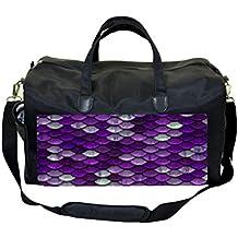 Purple Mermaid Scales Diaper/Baby Bag