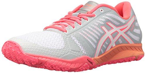 ASICS Women's FuzeX TR Cross-Trainer Shoe, White/Diva Pink/Mid Grey, 5 M -