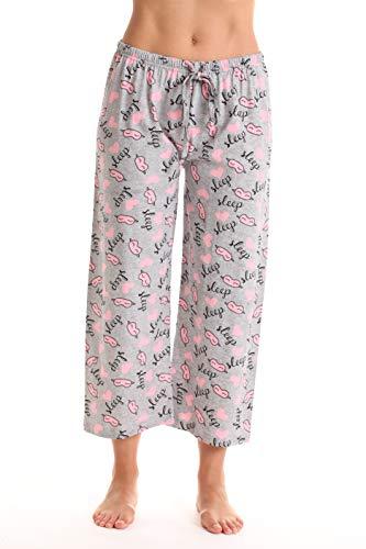 Just Love Womens Pajamas Cotton Capri Pants 6331-10381-GRY-XL]()
