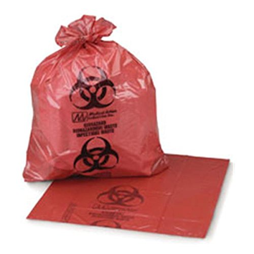 WP000-47-50 47-50 47-50 Bag Biohazard Safe-Seal 26x24'' 8-10 Gallons Red 500/Ca Medical Action Industries