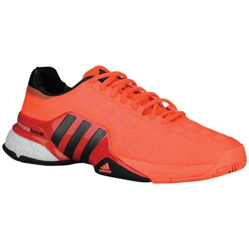 adidas Barricade 2015 Boost Tennis Sneaker Shoe - Solar Red/Black - Mens - 9.5