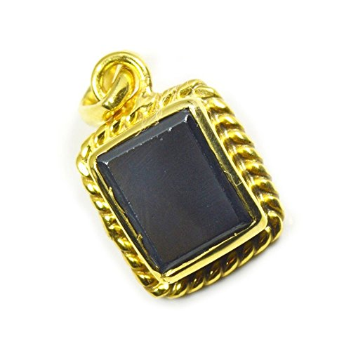 Jewelryonclick Natural Hematite 18 carat Panchdhatu Gold Plated Pendant Charms