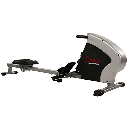 Sunny Health & Fitness Compact Folding Magnetic Rowing Machine Rower, LCD Monitor with Tablet Holder - Synergy Power Motion - SF-RW5801 by Sunny Health & Fitness (Image #10)