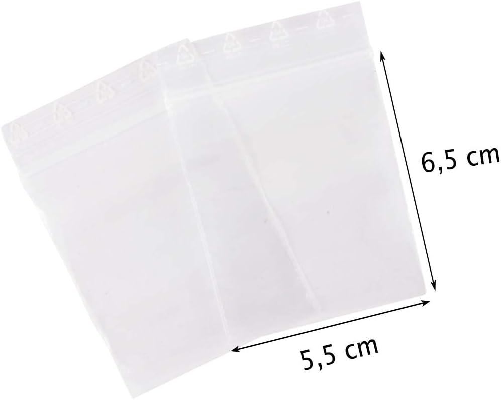 100 Druckverschlussbeutel Set 5 Größen ZIP Beutel Tüten Plastik Tütchen ZIP Bags