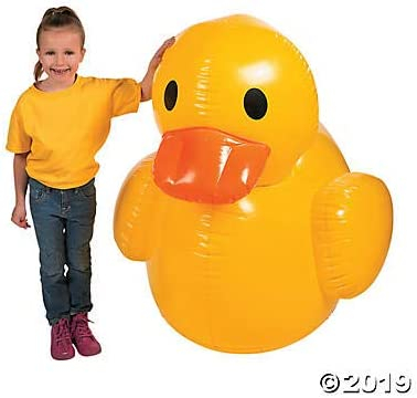 Fun Express Giant Inflatable Rubber Duck (4 feet)