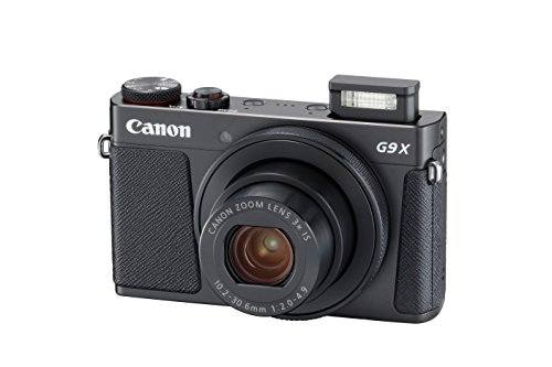 Canon PowerShot G9 X Mark II Compact Digital Camera w/ 1 Inch Sensor and 3inch LCD - Wi-Fi, NFC, Bluetooth Enabled (Black) (Canon G15 Camera)