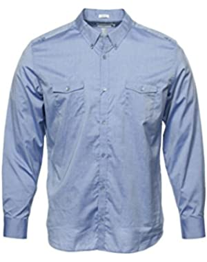 Calvin Klein Mens Blue Button Down Shirt