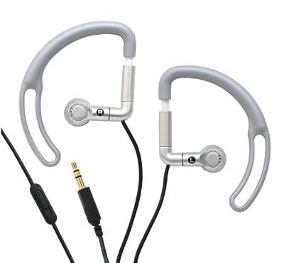 iHip Sport Earphones with Volume Control (Silver)