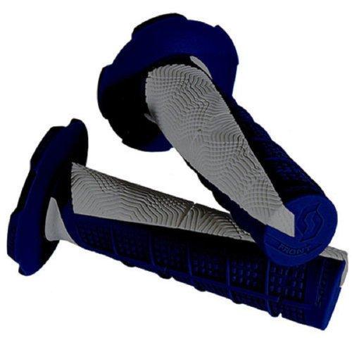 Blue Gray Scott Deuce Handlebar Hand Grips and Free Sticker Fits Yamaha Yz80 Yz85 Yz125 Yz250 Yz465 Yz490 Yz250f Yz450 Yz400 Yz426 Wr250 Wr450 Ttr125 Ttr230 Ttr90 Ttr110 Pw80 Rt100 Rt180 1981-2014