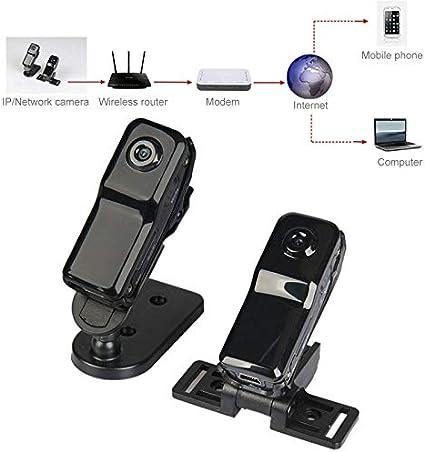Tanhefa Nueva MD81S Profesional de Alta definición inalámbrico P2P Tamaño de Bolsillo Mini DV IP/WiFi cámara/videocámara for iPhone/Android (Negro)