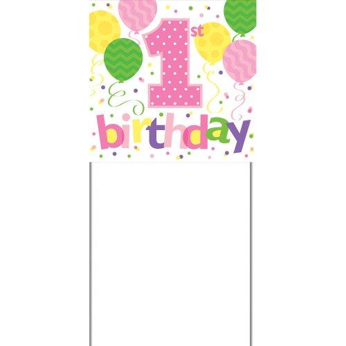 1st Birthday Girl Yard Sign