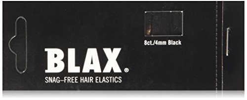 - Blax Snag-Free Hair Elastics 4mm- Black 8ct