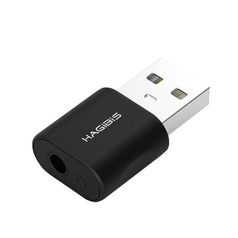Hagibis Adaptador de Tarjeta de Sonido Externa USB 2in1 USB a 3.5 ...