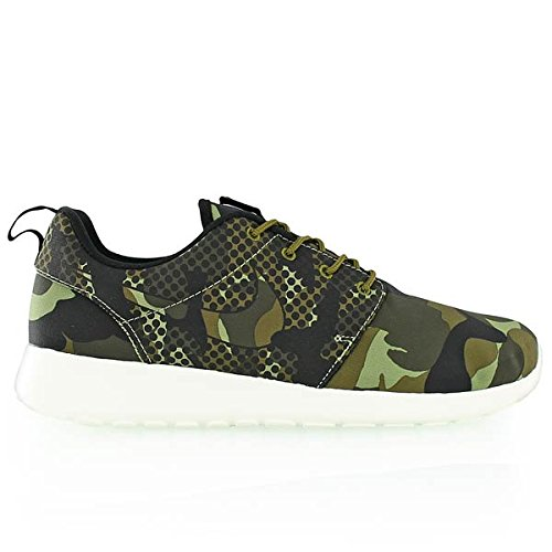 Nike Mens Roshe One Print Sneaker, Nero, Media Varios Colores (verde / Negro (alligatore / Blk-mlt Green-drk Ldn))