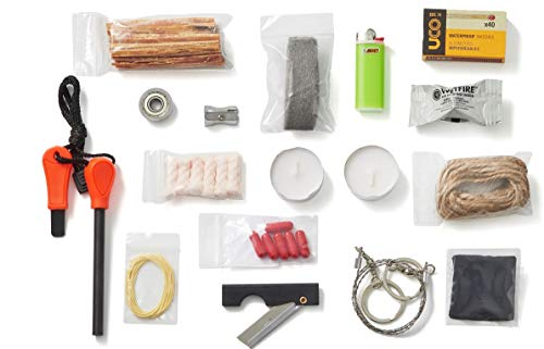- Fire B.O.S.S.- Bug Out Bag Survival Fire Starting Kit
