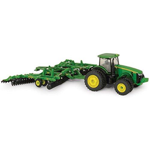 John Diecast Deere Tractor (Ertl John Deere 8320R Tractor and Model 637 Disk Set, 1:64 Scale)