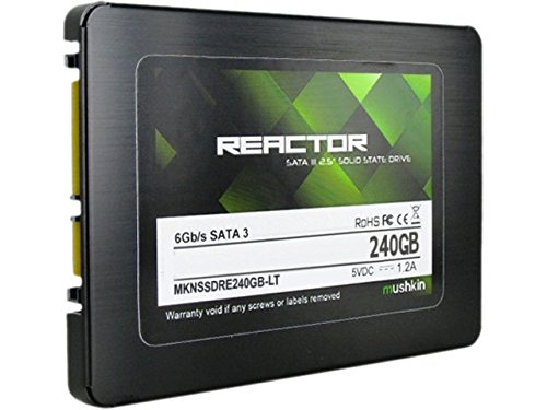 Mushkin REACTOR 240GB Internal Solid State Drive (SSD) - 2.5 Inch - SATA III - 6Gb/s - MLC - 7mm - MKNSSDRE240GB-LT