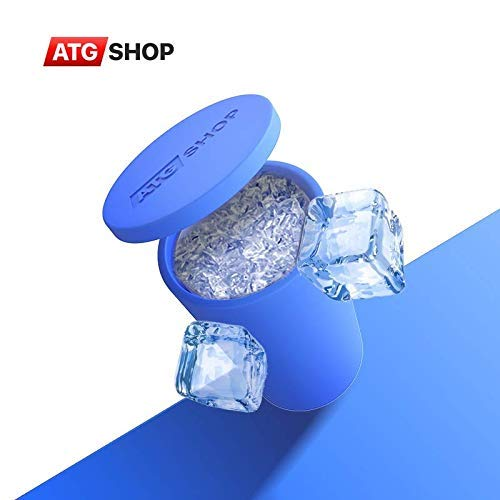 Atgshop Ice Cube Maker - Silicone Ice Cube Maker - Leakproof Design Super Large Silicone 2 in 1 Ice Bucket and Ice Mold - Cube Ice Maker - Portable Ice Cube Maker - Ice Maker - Small ice cubes