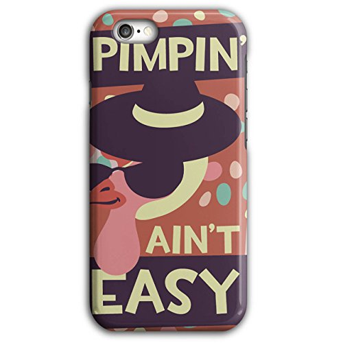 Pimpin Aint Easy Fun Chick Love NEW Black 3D iPhone 6 Plus / 6S Plus Case | Wellcoda (Pimps And Hoe Party Costumes)