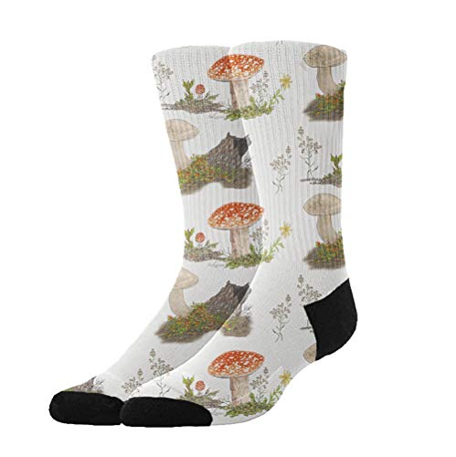 Jinkela Fall Mushrooms in The Forest Dress Socks Funny Socks Crazy Socks Casual Cotton Crew Socks for Girls]()