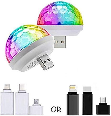 Mobile Phone Magic Ball USB RGB Lamp Atmosphere Light Music Voice Control