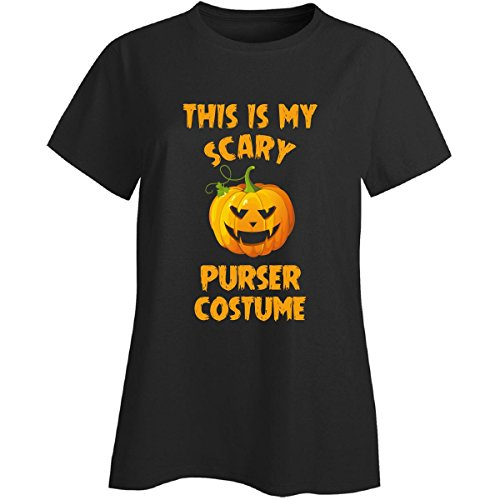 Purser Costume (This Is My Scary Purser Costume Halloween Gift - Ladies T-shirt Black Ladies S)