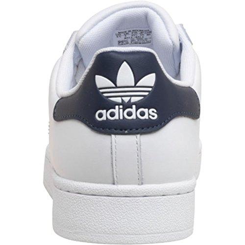 Herren nbsp;Sneakers Navy Gents Jungs adidas Superstar 2 Weiß Originals FxwnHAqd