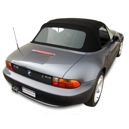 BMW Z3 Convertible Top in OEM Original Twillfast II Cloth with Integrated Plastic Window Black