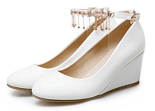 Printemps du Escarpins Mode Franges Modèle Blanc Femme Aisun 16vqTX